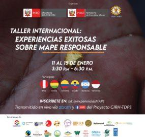 La Iniciativa Oro Responsable – BGI participó en el Taller internacional sobre Experiencias Exitosas sobre MAPE Responsable